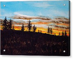 Lincoln County Sunset 1 Acrylic Print