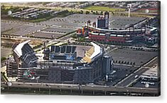 Lincoln Financial Field And Citizens Bank Park Acrylic Print by Bill Cannon