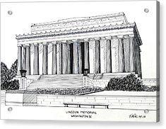 Lincoln Memorial  Acrylic Print by Frederic Kohli