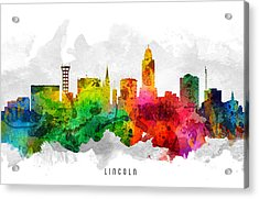 Lincoln Nebraska Cityscape 12 Acrylic Print