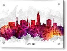 Lincoln Nebraska Cityscape 14 Acrylic Print