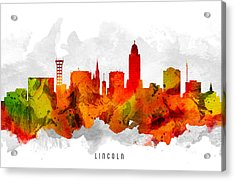 Lincoln Nebraska Cityscape 15 Acrylic Print