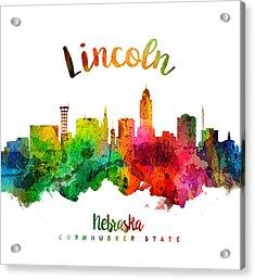 Lincoln Nebraska Skyline 24 Acrylic Print