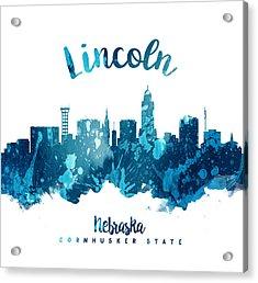 Lincoln Nebraska Skyline 27 Acrylic Print