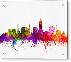 Lincoln Nebraska Skyline Color02 Acrylic Print