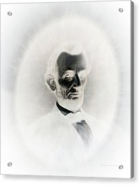 Lincoln Portrait Inverted Image Acrylic Print