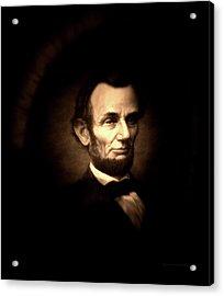 Lincoln Sepia Portrait Acrylic Print