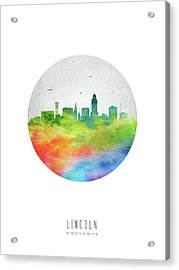 Lincoln Skyline Usneli20 Acrylic Print