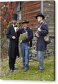 Lincoln With Officers 2 Acrylic Print
