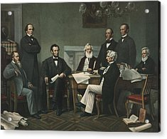 Lincoln's Cabinet Acrylic Print by Francis Bicknell Carpenter