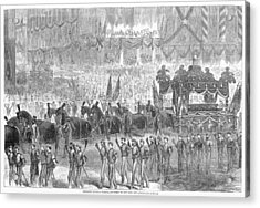 Lincolns Funeral, 1865 Acrylic Print by Granger