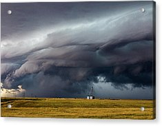Lindon Colorado Storm Acrylic Print by David Brown Eyes
