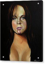 Lindsay Lohan Acrylic Print by Matt Truiano