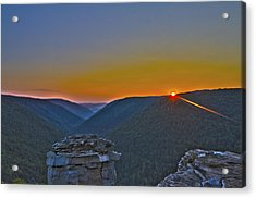 Lindy Point Sunset Acrylic Print