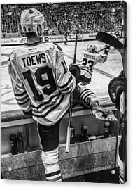 Line Change Acrylic Print by Tom Gort