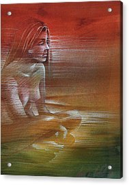 Line Nude 1977 Acrylic Print