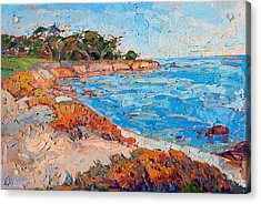 Acrylic Print featuring the painting Line Of Monterey by Erin Hanson