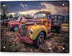 Line Up Of Cool Trucks Acrylic Print