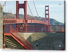 Acrylic Print featuring the photograph Linear Golden Gate Bridge by Steve Siri