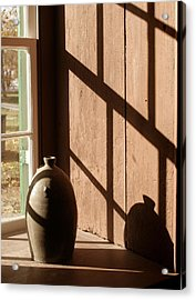 Linear Shadows Acrylic Print by Angie Bechanan