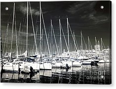 Lined Up In Marseille Acrylic Print by John Rizzuto