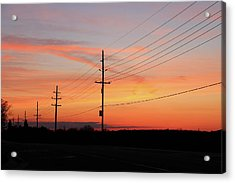 Lineman's Sunset Acrylic Print