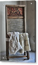 Linen And Lace Acrylic Print
