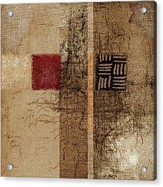 Linen Weave Acrylic Print by Carol Leigh