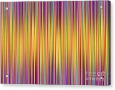 Acrylic Print featuring the digital art Lines 102 by Bruce Stanfield