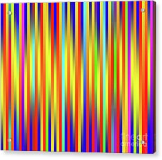 Acrylic Print featuring the digital art Lines 17 by Bruce Stanfield