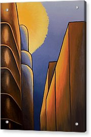 Lines And Curves Acrylic Print by Duane Gordon