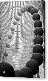 Lines Arcs And Spheres Acrylic Print