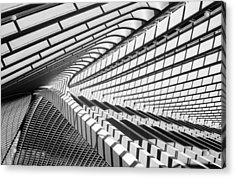 Lines In Liege Acrylic Print by Jeroen Van De Wiel