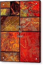 Lines In The Desert Acrylic Print