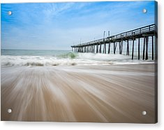 Outer Banks North Carolina Pier  Acrylic Print