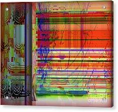 Lines Of Illusion Acrylic Print by Fania Simon
