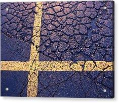 Lines On Asphalt I Acrylic Print by Anna Villarreal Garbis