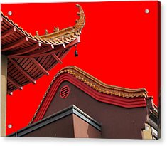 Lingyen Mountain Temple 38 Acrylic Print by Lawrence Christopher