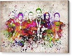 Linkin Park In Color Acrylic Print