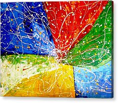 Acrylic Print featuring the painting Linkz by Piety Dsilva
