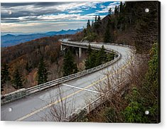 Linn Cove Viaduct Late Fall Acrylic Print