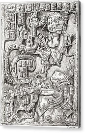 Lintel 25 Of Yaxchilan Structure 23 Acrylic Print