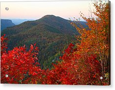 Acrylic Print featuring the photograph Linville Gorge by Kathryn Meyer
