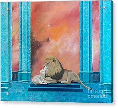 Lion And Lamb Acrylic Print