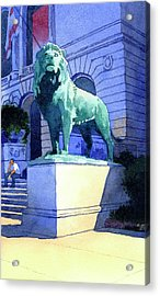 Lion At The Art Institue Of Chicago Acrylic Print