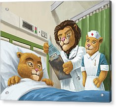 Lion Cub In Hospital Acrylic Print