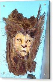 Lion Acrylic Print by Ellen Burns