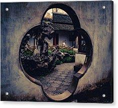 Lion Forest Garden Portal Acrylic Print