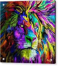 Lion Head Acrylic Print