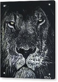 Acrylic Print featuring the painting Lion by Kevin Daly